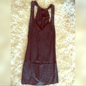 Express Long Glam Racerback V Neck Tunic